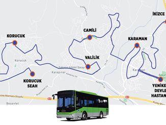 New bus line started service in Sakarya Yenikent region
