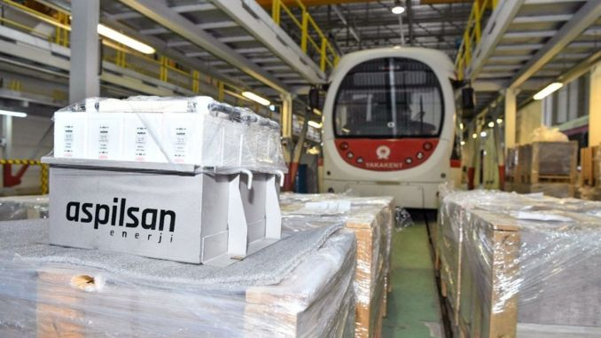 Aspilsan production started to use local battery in samulas trams