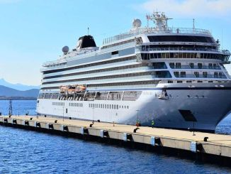 the first cruise ship of the season has arrived at the viking sea bodrum cruise port