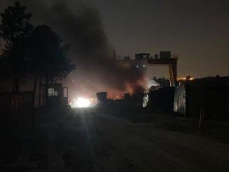 Incêndio na construção do metrô do aeroporto de Istambul