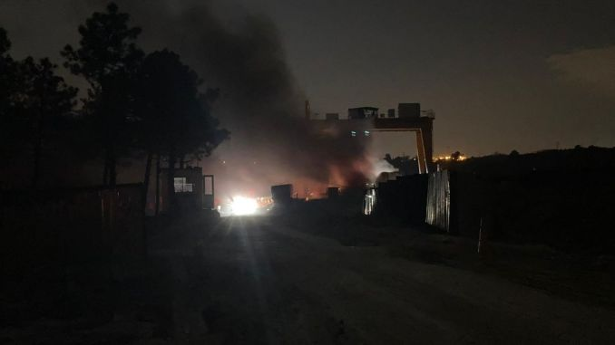 Fire in Istanbul airport subway construction