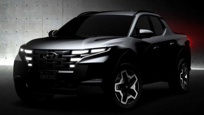 Hyundai shares first drawings of its Santa Cruz model