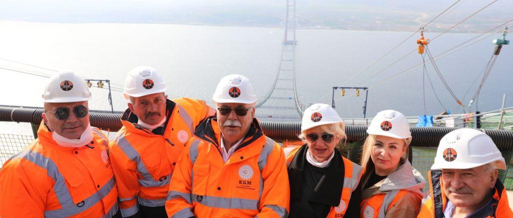 Prezidents Gokhans pārbaudīja kanakalas tilta būvniecību