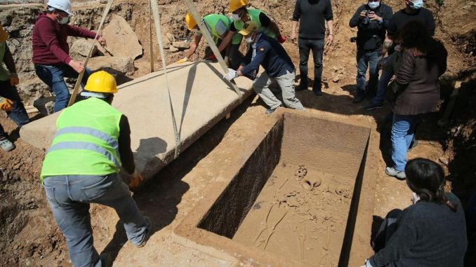 The annual sarcophagus tomb in Bodrum was opened