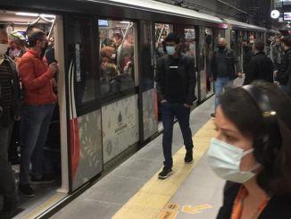 Hvordan er denne komplette lukning i Istanbul den første dag i ansøgningen, densiteten i metroen?