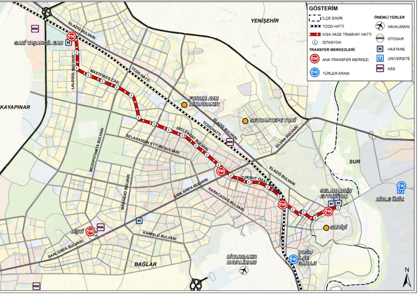 diyarbakir light rail system project