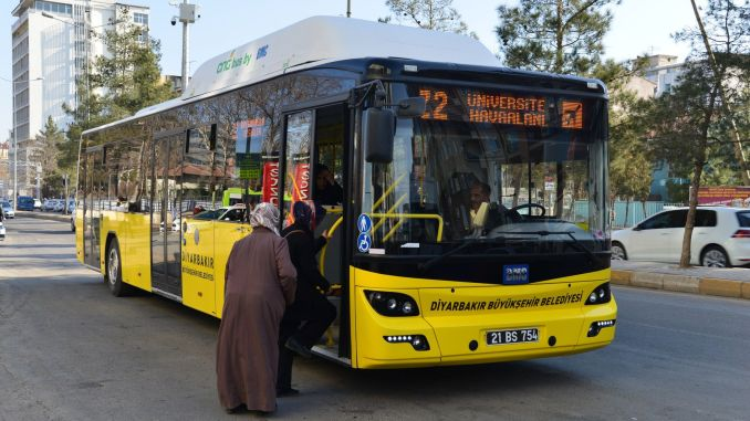 Arrangement to close public transport services in diyarbakir
