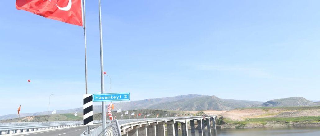 Hasankeyf Bridge opened for service with toren