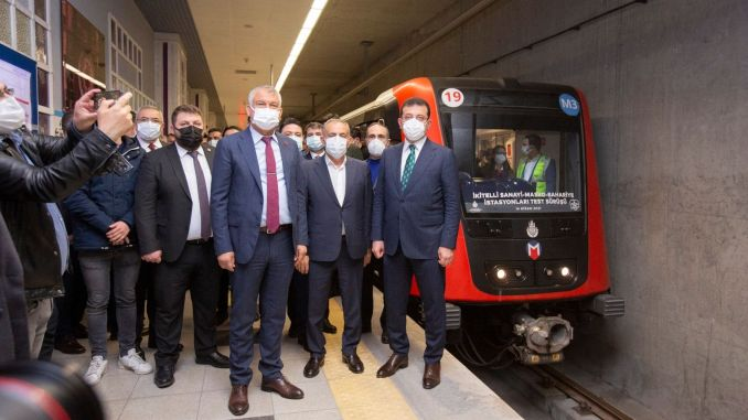 imamoglu istanbul became the city where the most metro was built at the same time