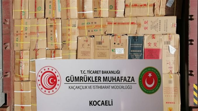 Hundreds of thousands of commercial goods were caught in the port of Kocaeli