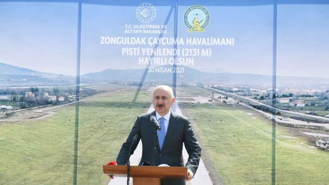 Zonguldak caycuma airport, whose runway was renewed, was opened