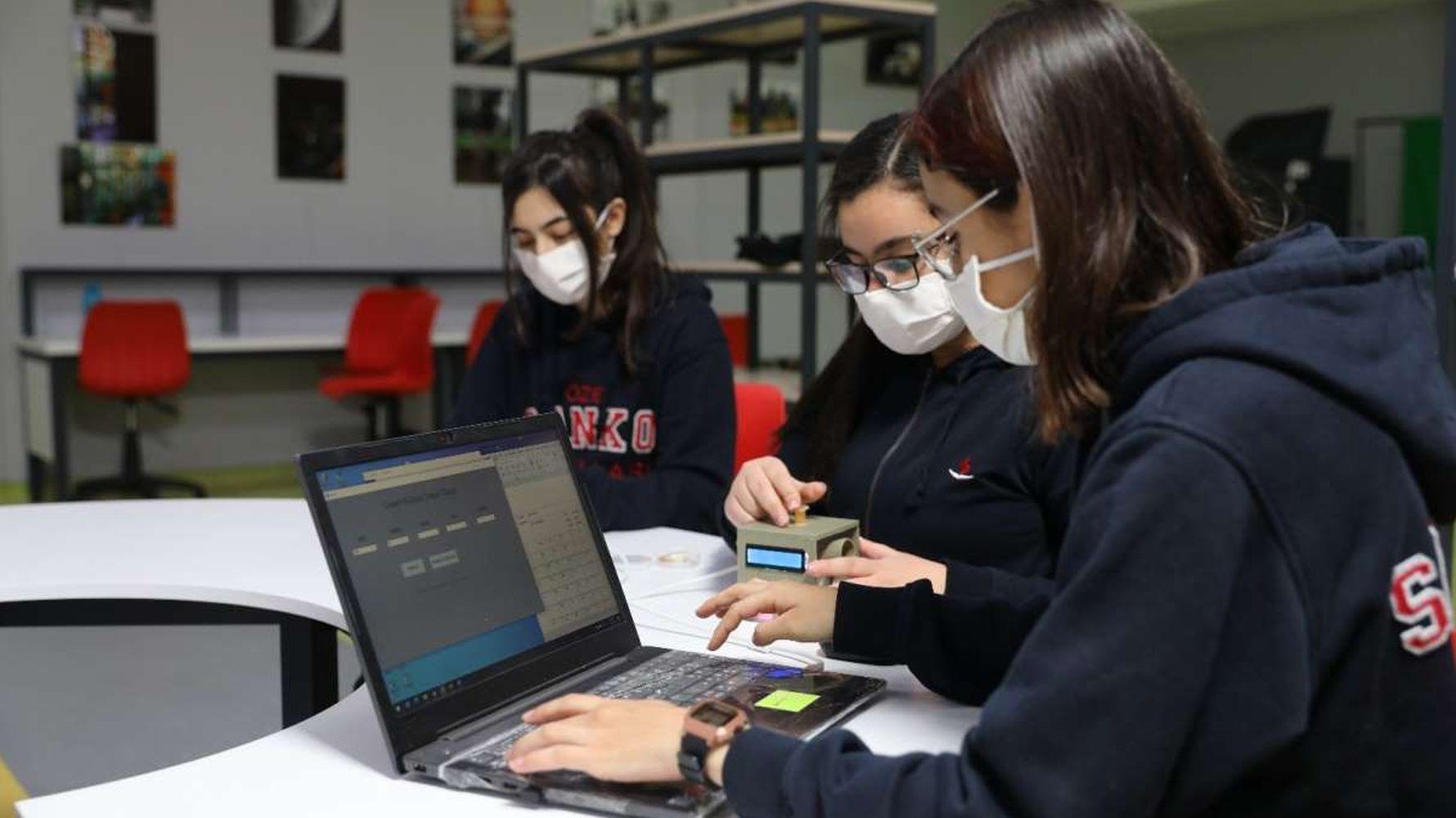 sanko schools students develop coronavirus sensory test device