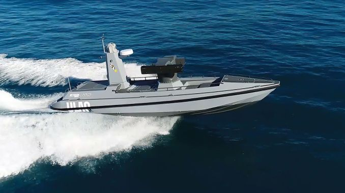 Armed unmanned sea vehicle is preparing for reaching tests