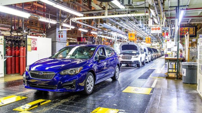 Subaru temporarily stopped production due to jeep crisis