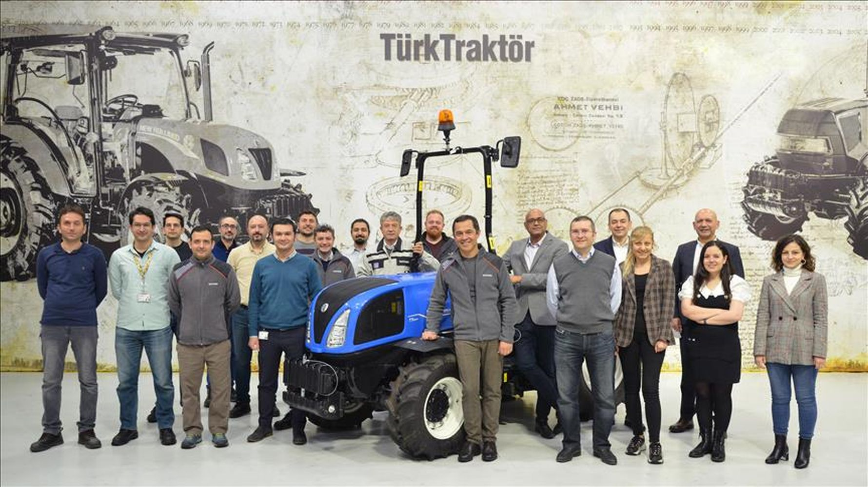 turktraktor has started the export of a brand new tractor