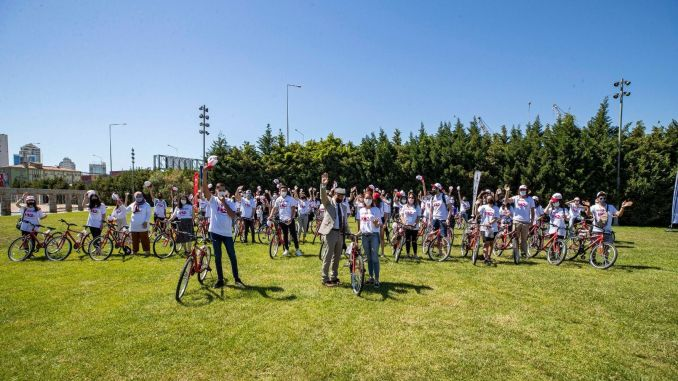 Bicycle for volunteers on the anniversary of May