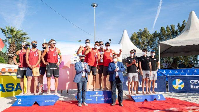 Champion Turkey in Izmir Beach CEV Continental Cup Beach Volleyball Tournament