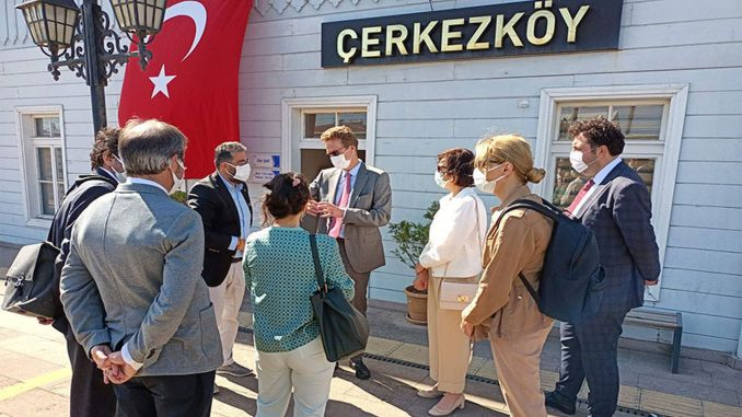 EU delegation examined the ring railway works