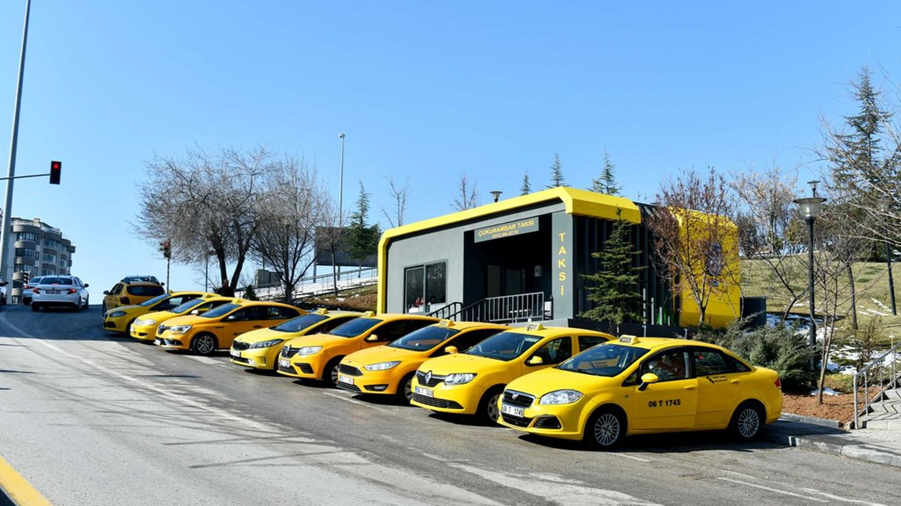 cukurambar was the first application address of modern taxi stands in Ankara