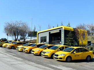 ankarada modern taksi duraklarinin ilk uygulama adresi cukurambar oldu