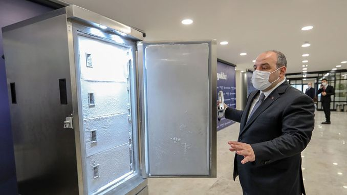 Minister Varank examined the cupboard that can store a thousand doses of unruly.