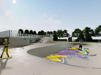The first skateboard park of the capital is being built