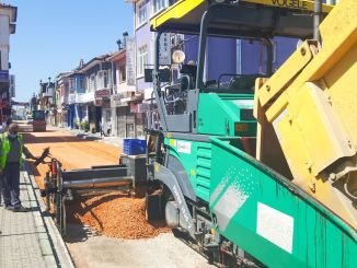 road renewal works in the district of bursa mudanya accelerated