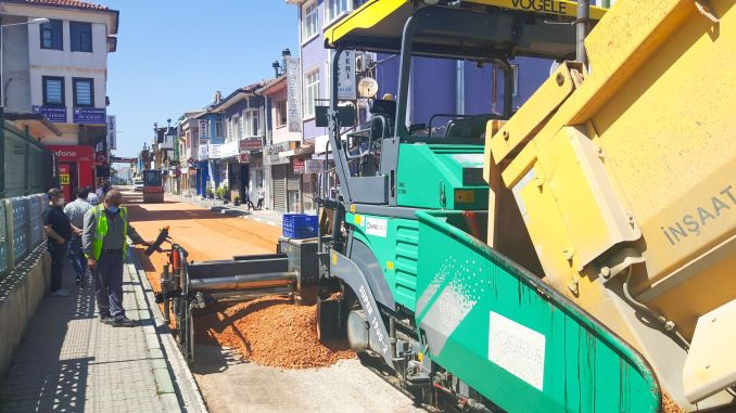 road renewal works in the district of bursa mudanya accelerated
