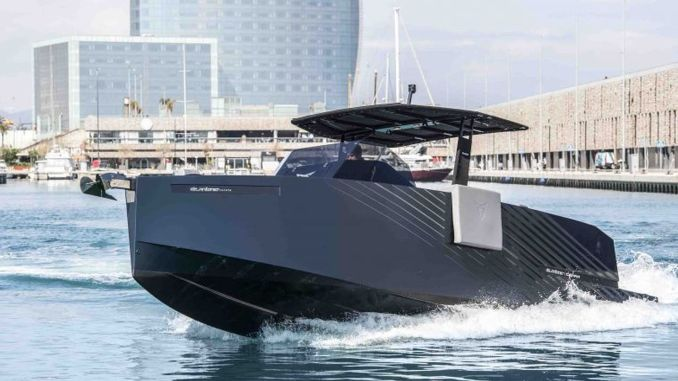 cupra designed yacht d formentor going down to sea