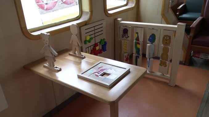 Children's playground was established for nine ferries