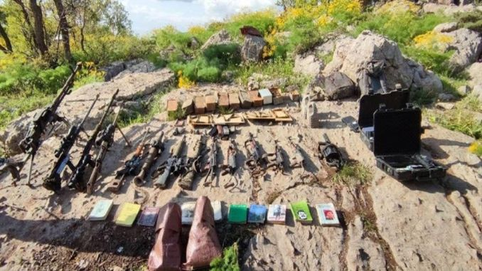 Weapons and ammunition seized in demand pence operations