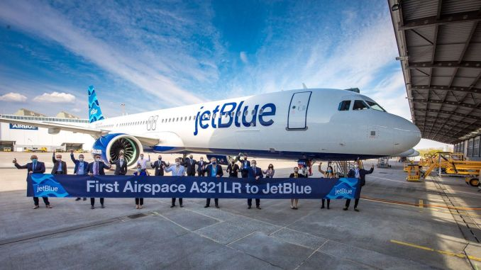Jetblue airspace received the cabin designed airbus alr order
