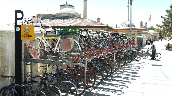 Two-storey new generation bicycle parks were put into service in Konya