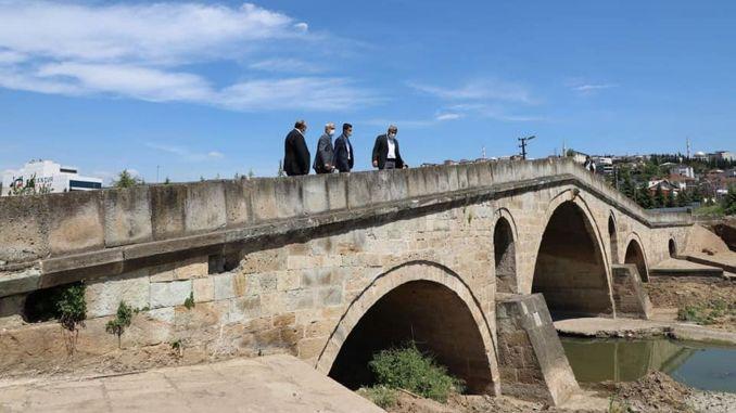 restoration work started for the historical sultan suleyman bridge