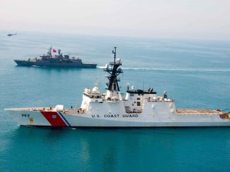 tcg turgutreis exercised with uscgc hamilton on the black sea