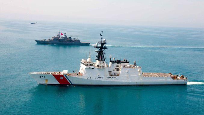 tcg turgutreis exercised with uscgc hamilton on the black sea