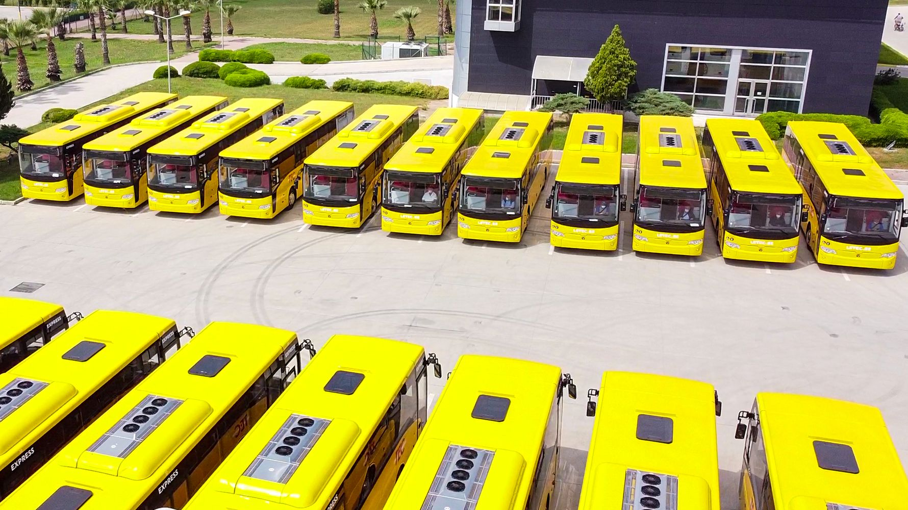Large bus delivery from temsa to center of europe