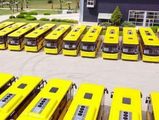 テムサからヨーロッパの中心部への大型バスの配達