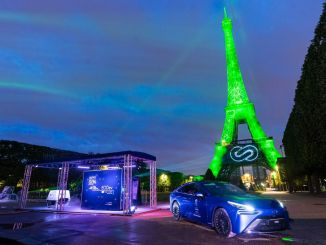 Toyota lights up the Eiffel Tower with sustainable hydrogen energy