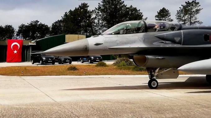 Turkish fd warplanes took their place for nato practice