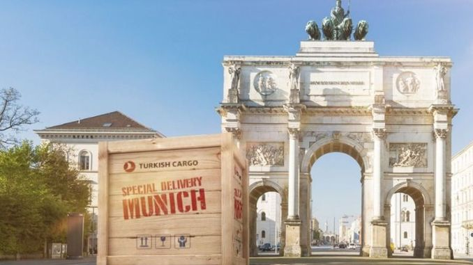 turkish cargo added to the technology capital of germany munihi cargo flight network