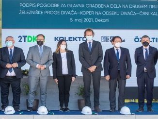 the building center will take place in slovenian's divaca koper railway project