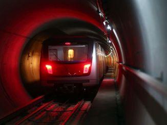 ข่าวประชาสัมพันธ์จากอังการา buyuksehir เกี่ยวกับการก่อสร้างรถไฟใต้ดิน