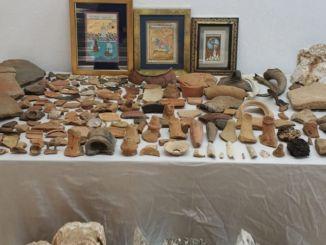istoriniai artefaktai, paimti antalijoje
