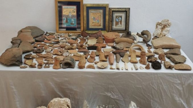 historical artifacts seized in antalya