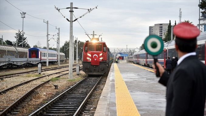 The amount of freight transported from the Baku Tbilisi opposite railway line exceeded million tons.
