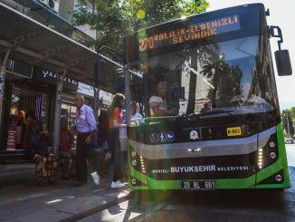 Storbybusser fra Denizli er på vei for busser