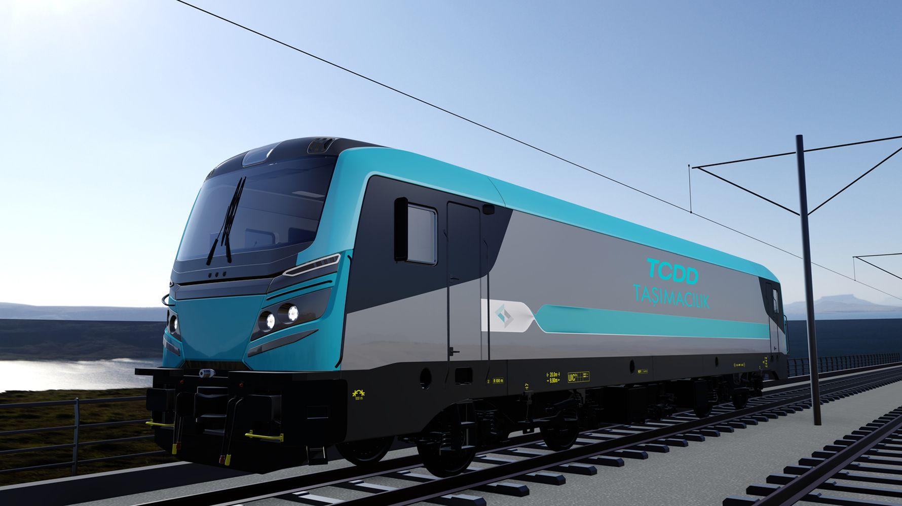 e electric outline locomotive