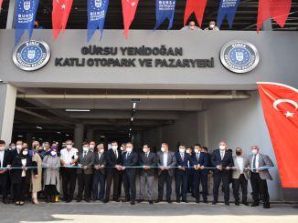 تم افتتاح موقف للسيارات والسوق متعدد الطوابق gursu yenidogan بالحفل