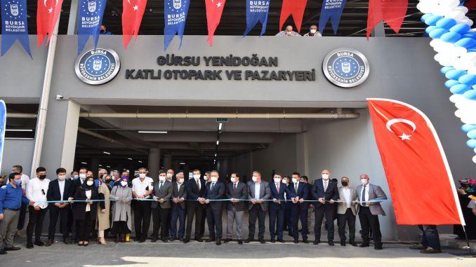 gursu yenidogan multi-storey car park and marketplace opened with ceremony